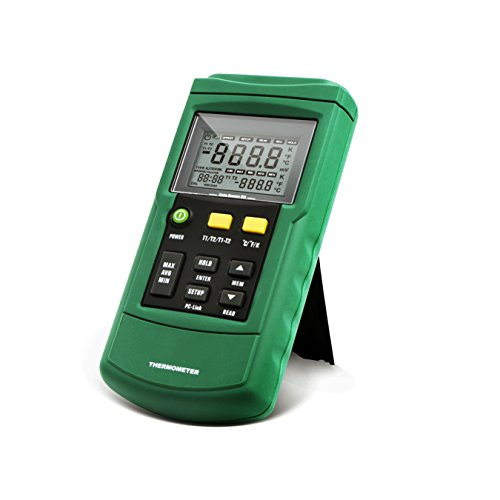 PerfectPrime TC2100GN TC2100, 2-Channel Digital Thermocouple Thermometer/Sensor (Meat Detector Machine)