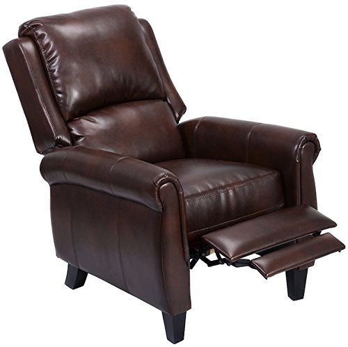 [PU Leather Recliner Accent Chair With Leg Rest Push Back Function Living Room Modern Beautiful Home Furniture Durable Wood Material] (Louis Xvi Settee)