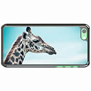 iPhone 5C Black Hardshell Case giraffe sky muzzle profile Desin Images Protector Back Cover