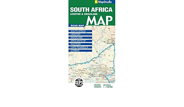 Lesotho South Africa Map.Road Map South Africa Lesotho Swaziland Sheet Map