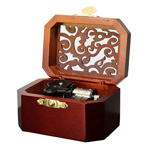 Anakin.jerry Wooden Octagon Carving Music Box: : Davy Jone's Theme - Locket Engraved Octagon