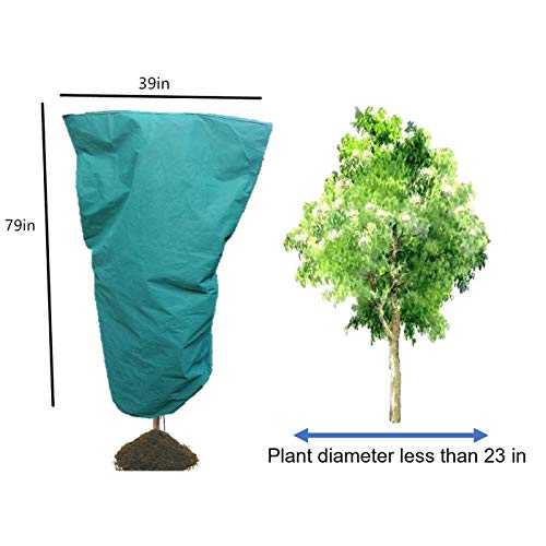 XXYY Plant Cover Shrub Jacket & Plant Blanket, Frost Blanket for Winter、Cold Weather (H79″xW39″,17oz)