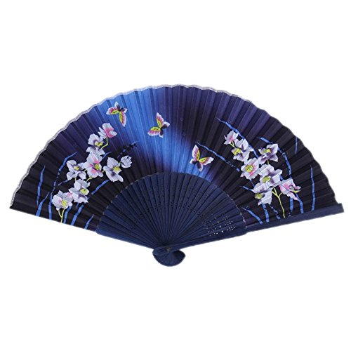 Flower Fan Bamboo - Freedi Folding Hand Held Fans for Performance Flower Butterfly Bamboo Dance Chinese Japanese Vintage Retro Home Decor