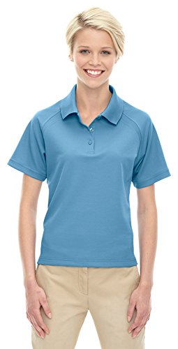 Extreme Eperformance Ladies Ottoman Textured Polo, Medium, RIVIERA BLU 678