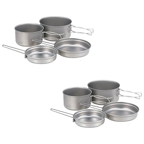 Snow Peak Titanium Multi Compact Cookset - 2 Pack (Multi Compact Cookset)