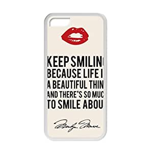 diy phone caseWEIWEI Marilyn Monroe Keep smiling Quote Cell Phone Case for iphone 5/5sdiy phone case