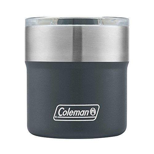 Coleman Slate Sundowner Insulated Stainless Steel Rocks Glass, 13oz by Coleman
