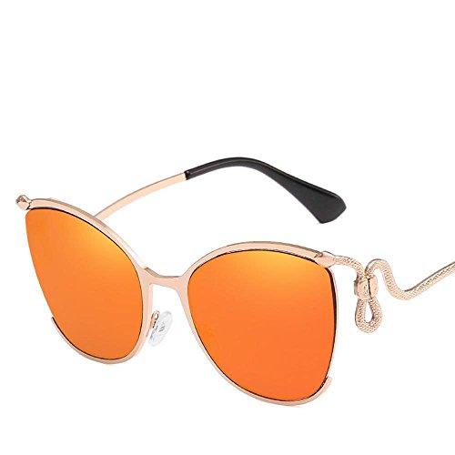 y Dama Europeas Ojo Regalos Gato Gafas de de exagerado Sol Medio Moda Marco Curvo Su Axiba creativos F Brillante Nglasses Americanas a Color Espejo de de Pata de carácter 7AqwTF