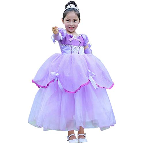 Girls Princess Sofia Costume Gloves Dress Up Party Ball Gown for $<!--$39.99-->