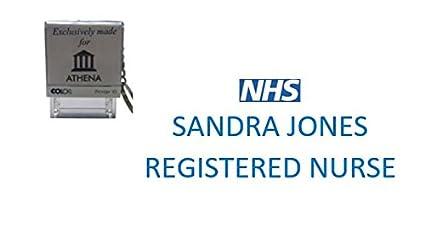 NHS - Núcleo reclasificado - sello personalizado sello de ...