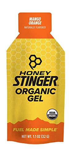 Honey Stinger Organic Energy Gel, Mango Orange, Sports Nutrition, 1.1 Ounce (Pack of 24)