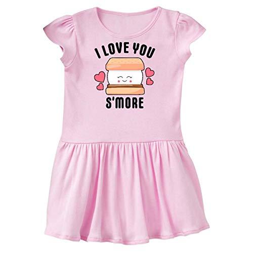 inktastic - I Love You Smore with Cute Toddler Dress 2T Ballerina Pink 33776 (Heart Dress Ballerina)