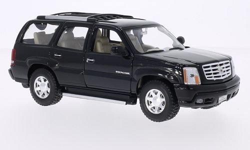 Cadillac escalade, black, 2002, Model Car, Ready-made, Welly 1:24