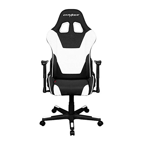 DXRacer Formula Series DOH/FD101/NW Office Chair Gaming Chair Ergonomic Computer Chair eSports Desk Chair Executive Chair Furniture with Free Cushions (Black/White) DXRACER USA LLC