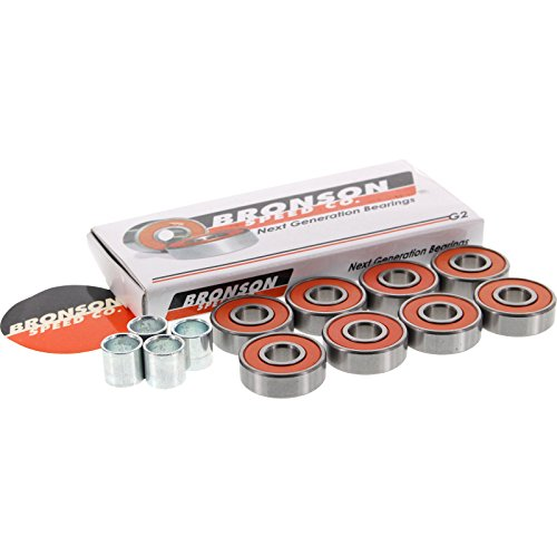 Bronson Speed Co G2 Skateboard Bearings Includes Spacers and