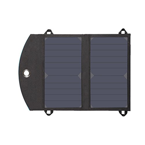 Hausbell SP10B 12W Outdoor Foldable Solar Charger with Dual Port(Black) Gear And Gadgets hausBell