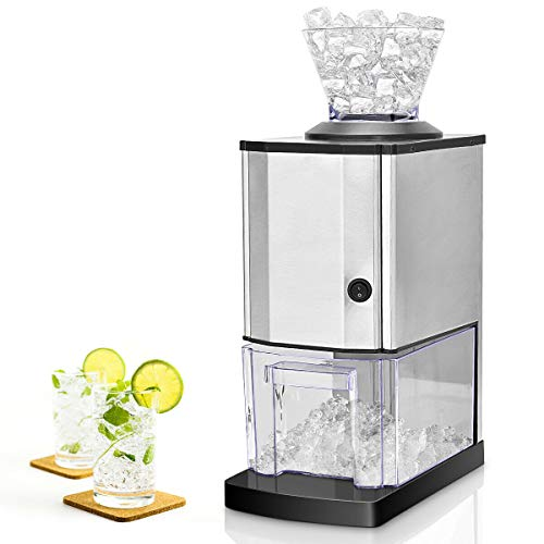(Costzon Electric Ice Crusher, Stainless Steel Ice Shaved Machine for Party, Gathering, Home)