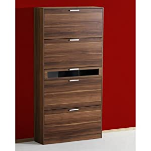 Bingo Walnut Shoe Storage Cabinet: Amazon.co.uk: Kitchen