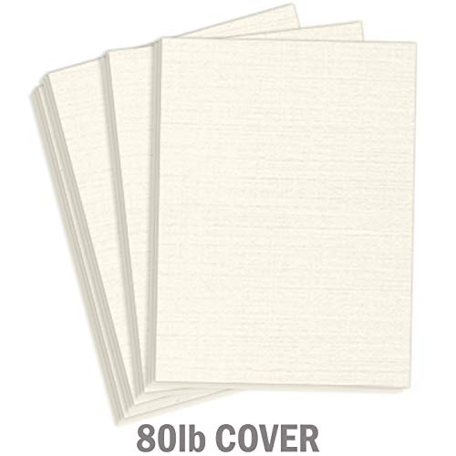 Hamilco White Resume Linen Textured Cardstock Paper – 8 1/2 x 11