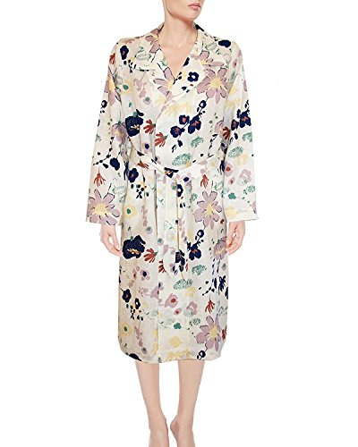 Armani International Glamour Linen Dressing Gown X-Large Off White-Floral by Armani International