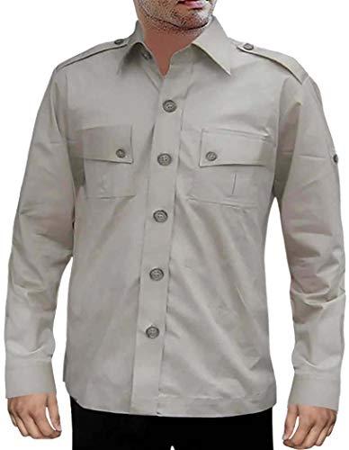 INMONARCH ZookeeperCostume Safari Cotton BoyScout Shirt 2 Pocket Bush Shirts HS111SMALL S (Small) LightGray