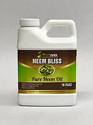 Neem Bliss 100% Pure Cold Pressed Neem Seed Oil - 6 sizes