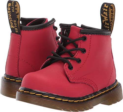 Dr. Martens Kid's Collection Unisex 1460 Delaney Boot (Toddler) Satchel Red Romario 3 M UK -