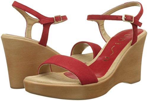 ks Sandals Toe Women''s Open Red Rita 18 red Red Unisa w1qgFt