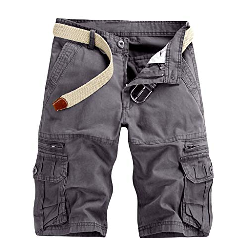 TOTOD Plus Size Multi Pockets Cargo Shorts for Men - Boyfriend Camo Outdoor Pants Casual Workout Hiking Trunks