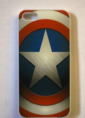 (313wi4) Captain America Apple iPhone 4 / 4S White Case Shield