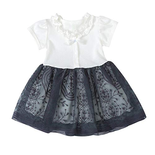 Fashion Dresses Baby Kids Girls Toddler Ruched Patchwork Tulle Dress Party Princess Dresses Summer White 3T -