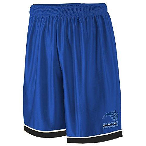 - NBA Orlando Magic Adult men NBA Poly Shorts 2 Pocket,4X,Royal/blk