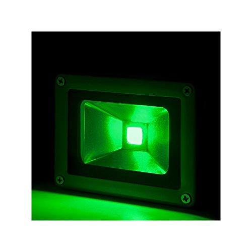 Foco Proyector de LEDs para Exterior BRICO 10W 850lm 30.000H Verde: Amazon.es: Iluminación