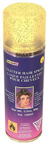 Temporary Hairspray Hair Spray Dye Gold Glitter Color Can Makeup (Changes Hair Colour)
