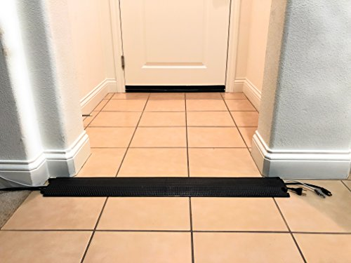 3ft Small Office Home Office Indoor Outdoor Cable Protector Wire Cover. Weather Resistant Polyurethane, Single Channel. Great for Power Cables, Network Cables HDMI Cables. 36'' x 5.25'' x 0.75'', Black by Elasco Products (Image #4)
