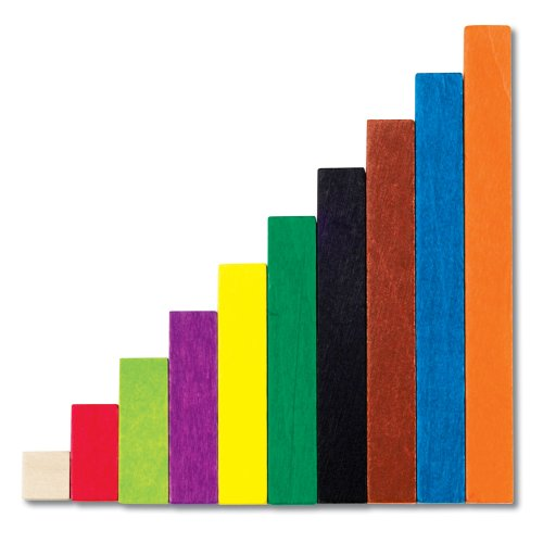 - Learning Resources Cuisenaire Rods Introductory Set, 74 Rods