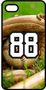 Baseball Sports Fan Player Number 88 Smoke Rubber Decorative iphone 4s Case