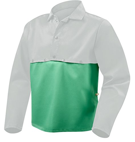 Flame Retardant Cape Sleeve - Steiner 10314 Bib for Cape Sleeves, Green Weld Lite 9-Ounce Flame Retardant Cotton, 23