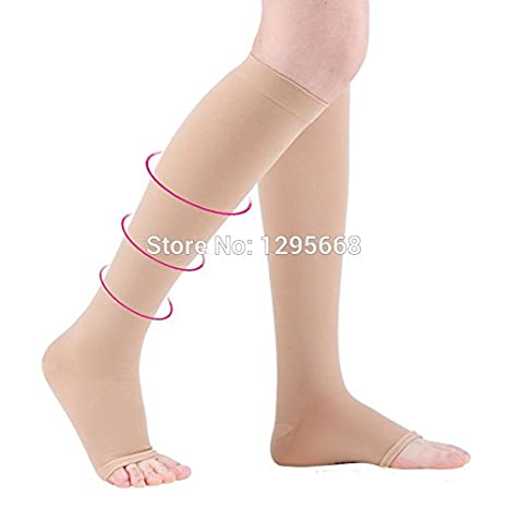 081e897dc Buy GENERIC XXL   Cofoe Skin Color Medical Compression Stocking Two Grade  Socks Prevent Varicose Veins Nursing Socks Online at Low Prices in India -  Amazon. ...