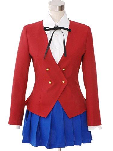Cuterole Anime Tiger Dragon Toradora Aisaka Taiga Cosplay Costume School Uniform (Toradora Taiga Cosplay Costume)