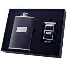 Visol Ontario Flask and Zippo Lighter Gift Set, 8-Ounce by Visol