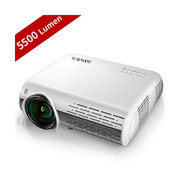 YABER Native 1080P Projector 5500 Lumens Full HD Video Projector (1920 x 1080), ±50°...