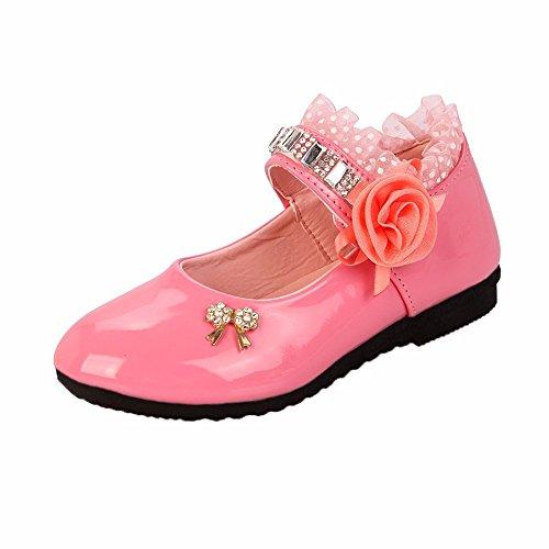 CCFAMILY Children GirlFashionPrincess Flower Rhinestone Dance Toddler Sandals Shoes Pink (Julep Mug)