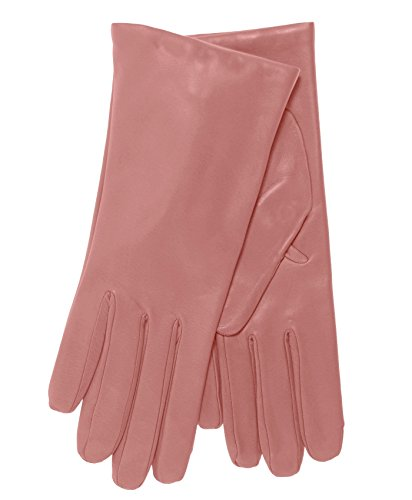 Womens Pink Glove (Fratelli Orsini Everyday Women's Italian Cashmere Lined Leather Gloves Size 7 Color Pink)