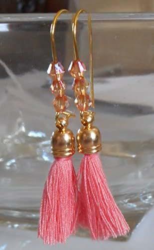 Amazon.com: Cute for PROM Peach, Coral Swarovski Crystal