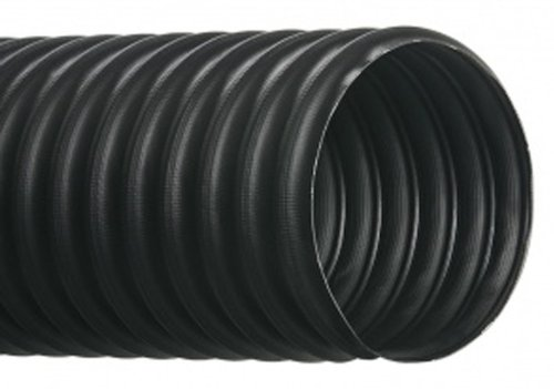 Hi-Tech Duravent RFH-Plus Series Thermoplastic Rubber Fabric Reinforced All-Purpose Hose, Black, 2-1/2