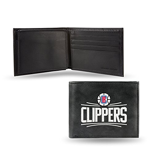 NBA Los Angeles Clippers Embroidered Leather Billfold - Clippers Angeles Los Rico