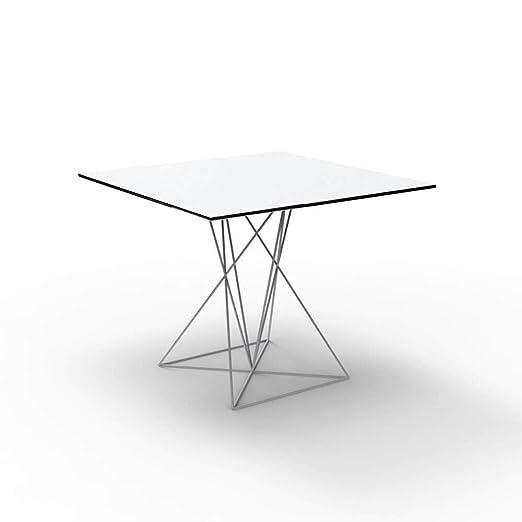 Vondom Faz mesa con tablero HPL 70x70 cm blanco: Amazon.es: Jardín