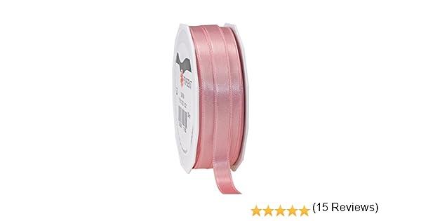 Prasent C.E pattberg 10 mm 25 m de Cinta de Raso de Doble Cara Rosa polvoso