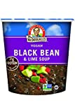 veggie to pasta - Dr. McDougall's Right Foods Vegan Black Bean & Lime Soup, 3.4 Ounce Cups (Pack of 6) Gluten-Free, Non-GMO, No Added Oil, Paper Cups From Certified Sustainably-Managed Forests